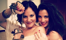 As Frasquita with Carmen (Elise Quagliata) on tour with New York City Opera